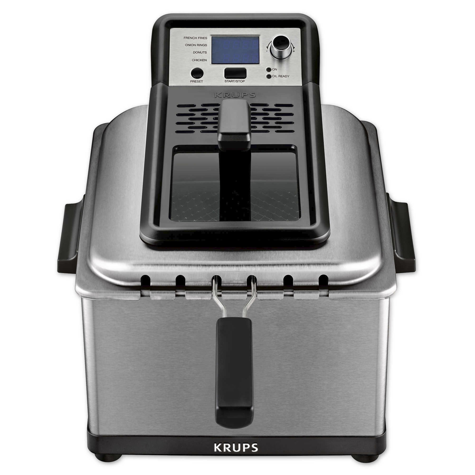 KRUPS Stainless Steel Professional Deep Fryer with 3 Frying Baskets, 1 Piece