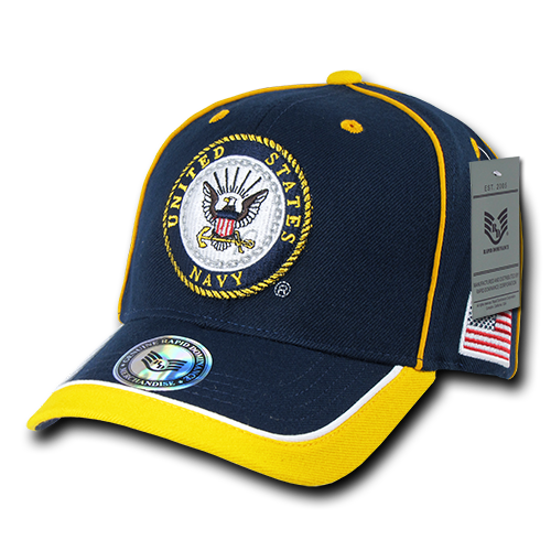 US Navy Official Piped Military Caps Hats Navy