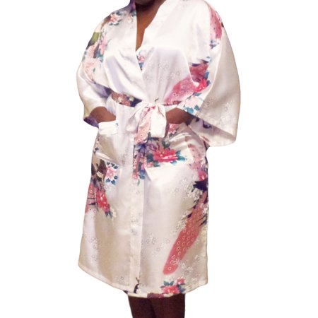 FEDEY - Floral Satin Womens Plus Size Robes 7f6f6a221185