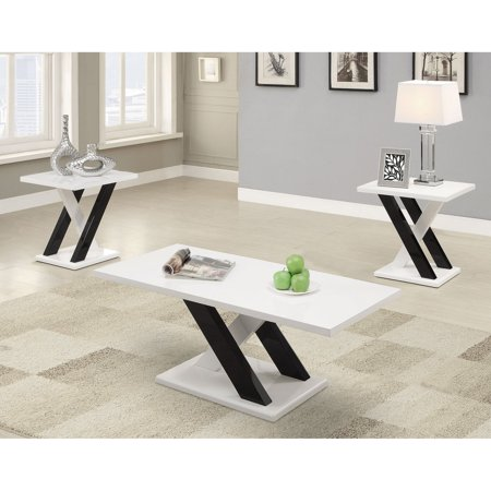Coaster Furniture Modern 3 Piece Coffee Table (Modern Seat)