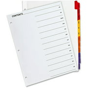 Sparco Jan-Dec Quick Index Dividers