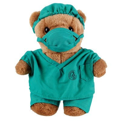 - Doctor Teddy Bear In Green Surgeon Scrubs