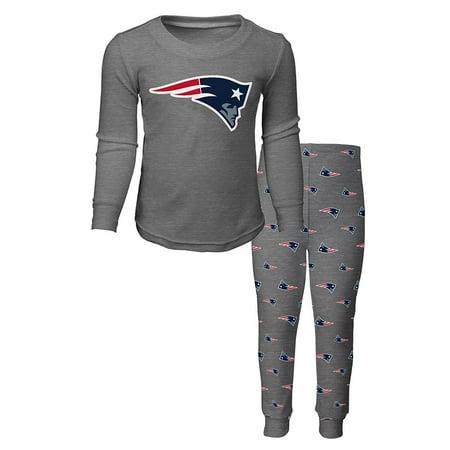 OuterStuff NFL Kids New England Patriots Long Sleeve Tee & Pant Sleep Set ()