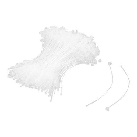 Unique Bargains Supermarket Shop Clear White Plastic Clothes Goods Price Label Tag Strip 500 - New Plastic Strips