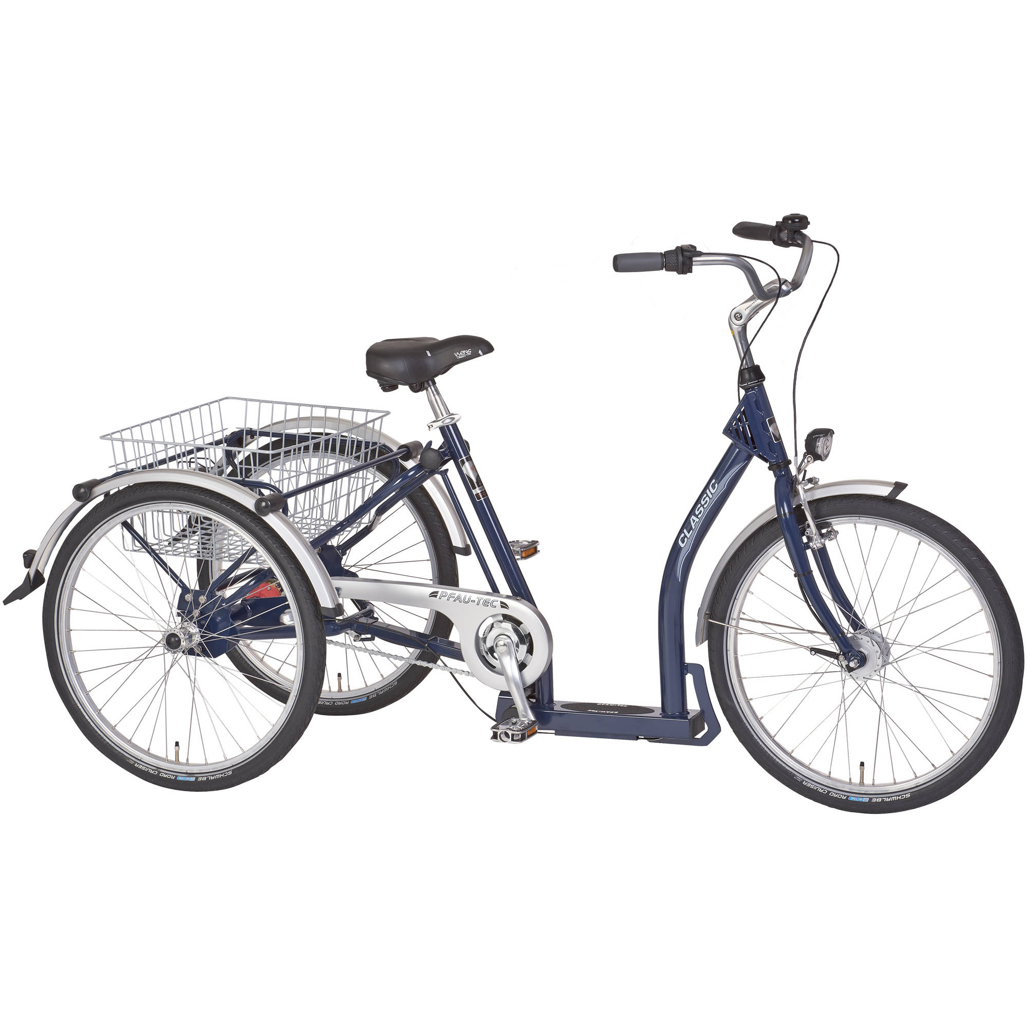 "PFIFF Classic Adult Tricycle, 24"" and 26"" Wheels, Nexus 3-Speed Drive, Dark Blue"