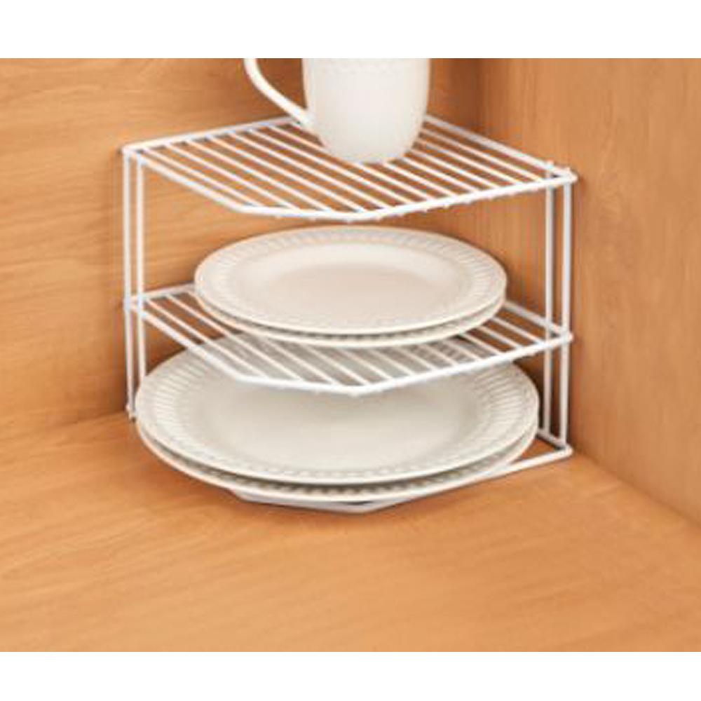 Kitchen Shelves Walmart: Kitchen Details Corner-Shelf Organizer, White