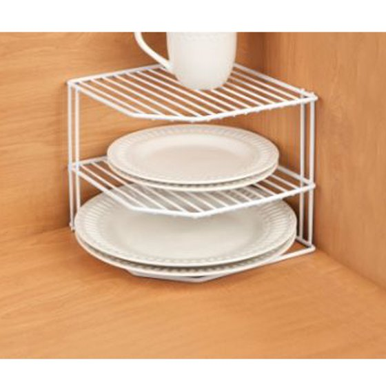 Five Corners Kitchen: Kitchen Details Corner-Shelf Organizer, White
