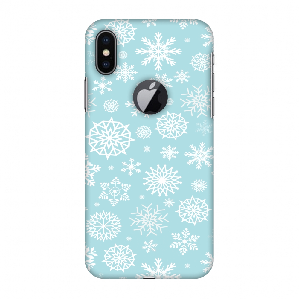 iPhone X Case, Premium Handcrafted Designer Hard Snap on Shell Case ShockProof Back Cover with Screen Cleaning Kit for iPhone X - Winter Feels, Cut for Apple Logo