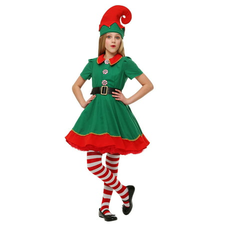 Girls Holiday Elf Costume - Cow Costume For Girls