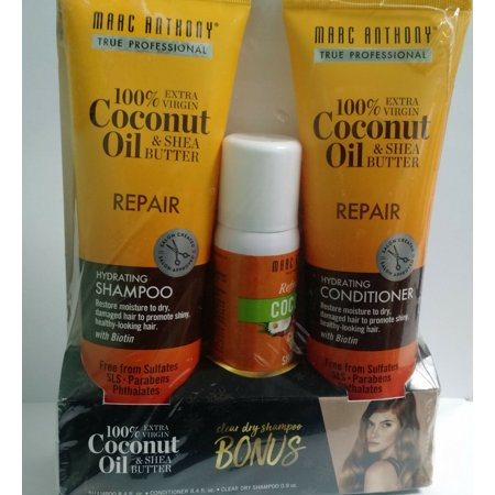 Marc Anthony Repair Coconut Oil & Shea Butter Set Shampoo/Conditioner/Dry (Marc Anthony Oil Of Morocco Shampoo Review)