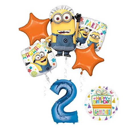 Despicable Me 3 Minions 2nd Birthday Party Supplies and balloon Decorations - Marry Me Balloons