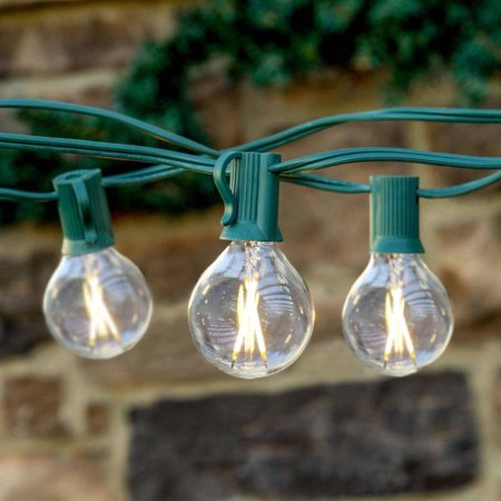 Brightech Ambience LED Outdoor String Lights with G40 LED Bulbs, Commercial Quality, UL Listed ...