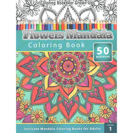Flowers Mandala Coloring Book Intricate Books For Adults