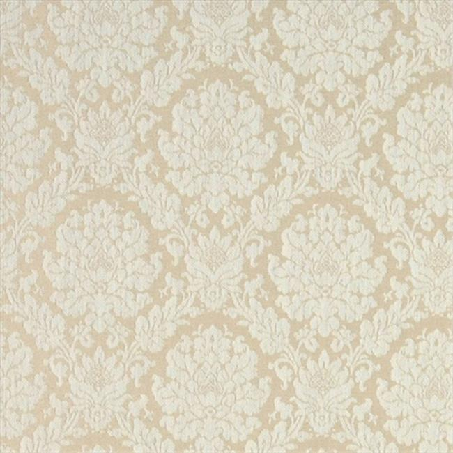 Designer Fabrics A456 54 in. Wide Ivory And White Two Toned Floral Brocade Upholstery Fabric