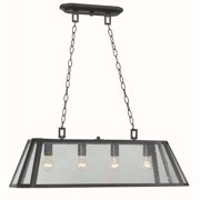 Bedford 4-Lights Oiled Rubbed Bronze Glass Island Pendant