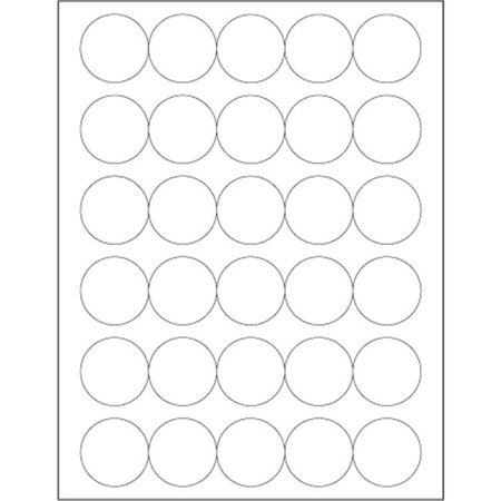 Tape Logic LL301 1.5 in. Glossy White Circle Laser Labels - Pack of 3000 - image 1 de 1