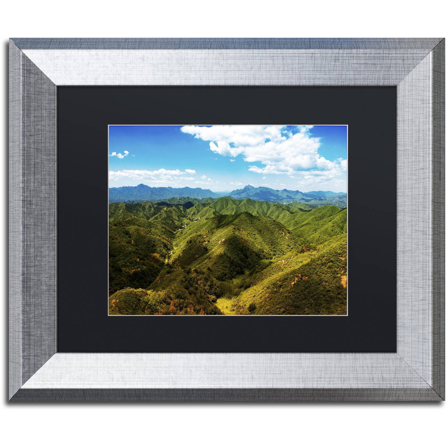 "Trademark Fine Art ""Great Wall XII"" Canvas Art by Philippe Hugonnard, Black Matte, Silver Frame"