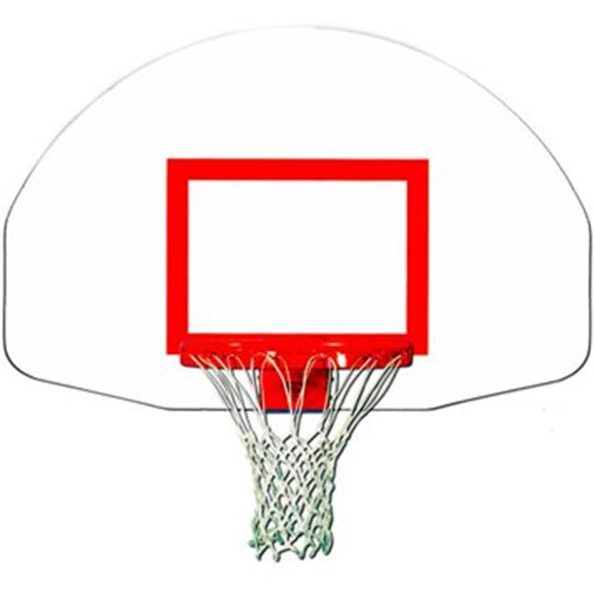 Trigon Sports BB ft Fan-Shape Steel Backboard with Target