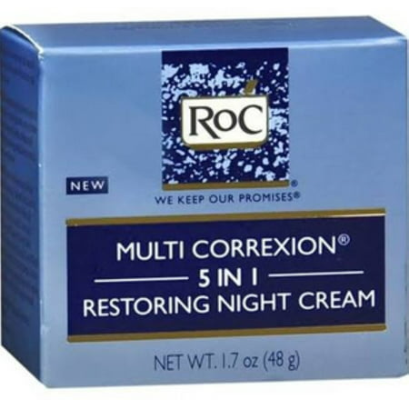 2 Pack - RoC Multi Correxion 5 in 1 Restoring Night Cream, 1.7