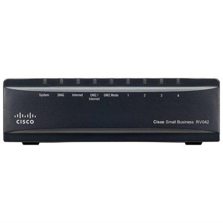 Cisco Rv042 Dual Wan Vpn Router   6 Ports   Desktop   Linksys Rv042g K9 Na