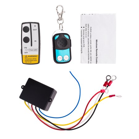 12V 50FT Wireless Winch Remote Control Kit For Car Truck Jeep ATV Warn Ramsey