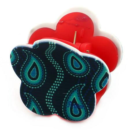 Women Plastic Hair Claw Clip Clamp Barrette Head Decoration Assorted Color 4pcs - image 3 de 5