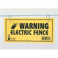 ELECTRIC FENCE WARNING SIGN YELLOW 3 PACK