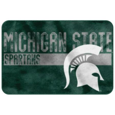 Michigan State Spartans Rug - Michigan State Spartans NCAA Bathroom Decorative Foam Rug