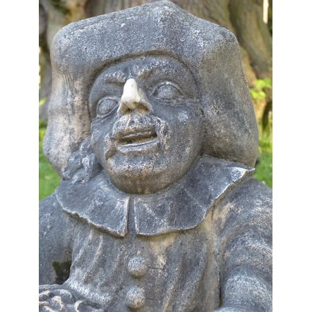 Canvas Print Gnome Zwergelgarten Sculpture Dwarf Globe Fig Stretched Canvas 10 x -