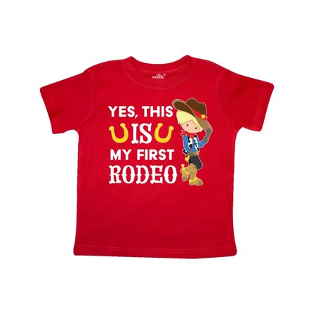 Yes, this IS my First Rodeo- cowboy in hat and boots Toddler T-Shirt - Cowboy Hats And Boots