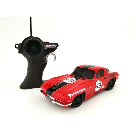 Corvette Race - Maisto 1:24 Remote Control 1963 Corvette Red Classic Race