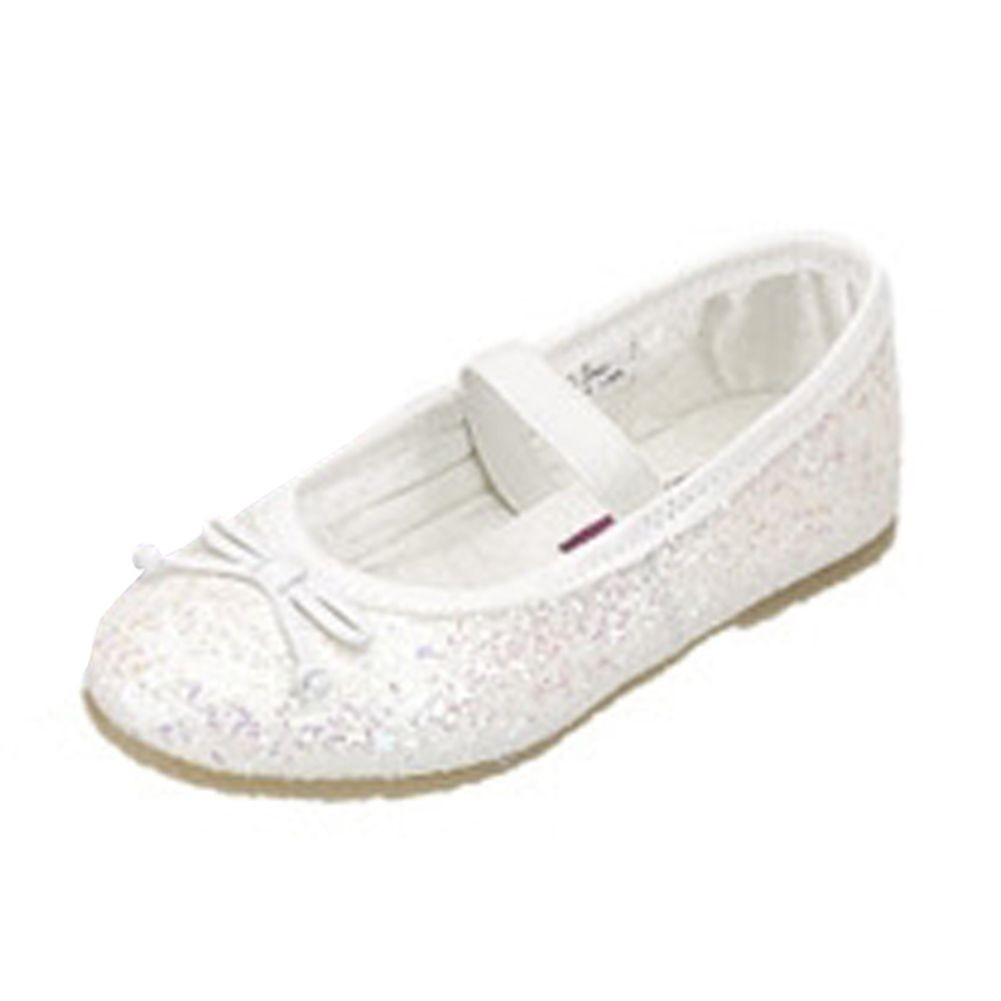 Toddler Little Girls White Iridescent Glitter Dress Shoes 5T- 4 ...