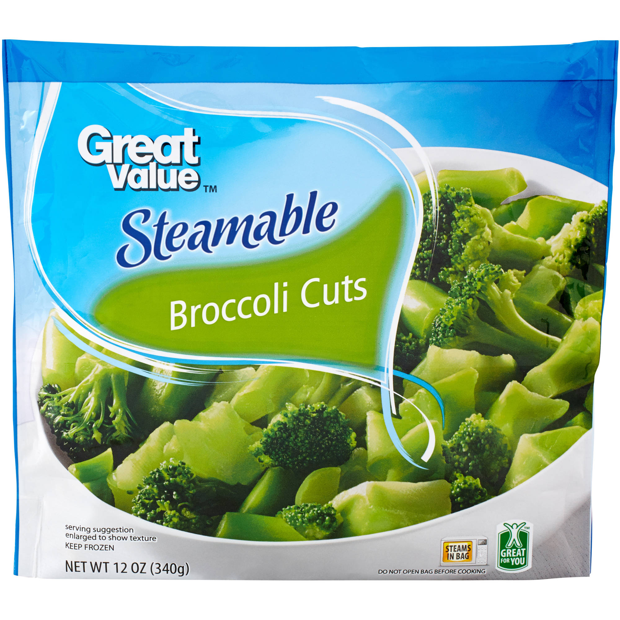 Great Value Steamable Broccoli Cuts, 12 oz