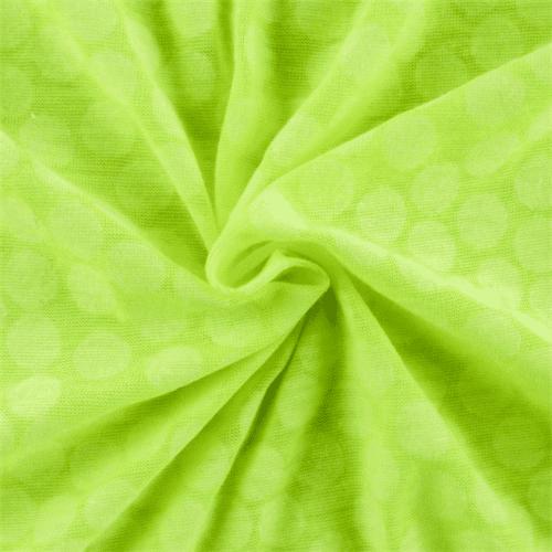 Neon Yellow Polka Dot Jersey Knit, Fabric By the Yard