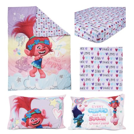 TROLLS Hug Time 4 pc Toddler Bed Set