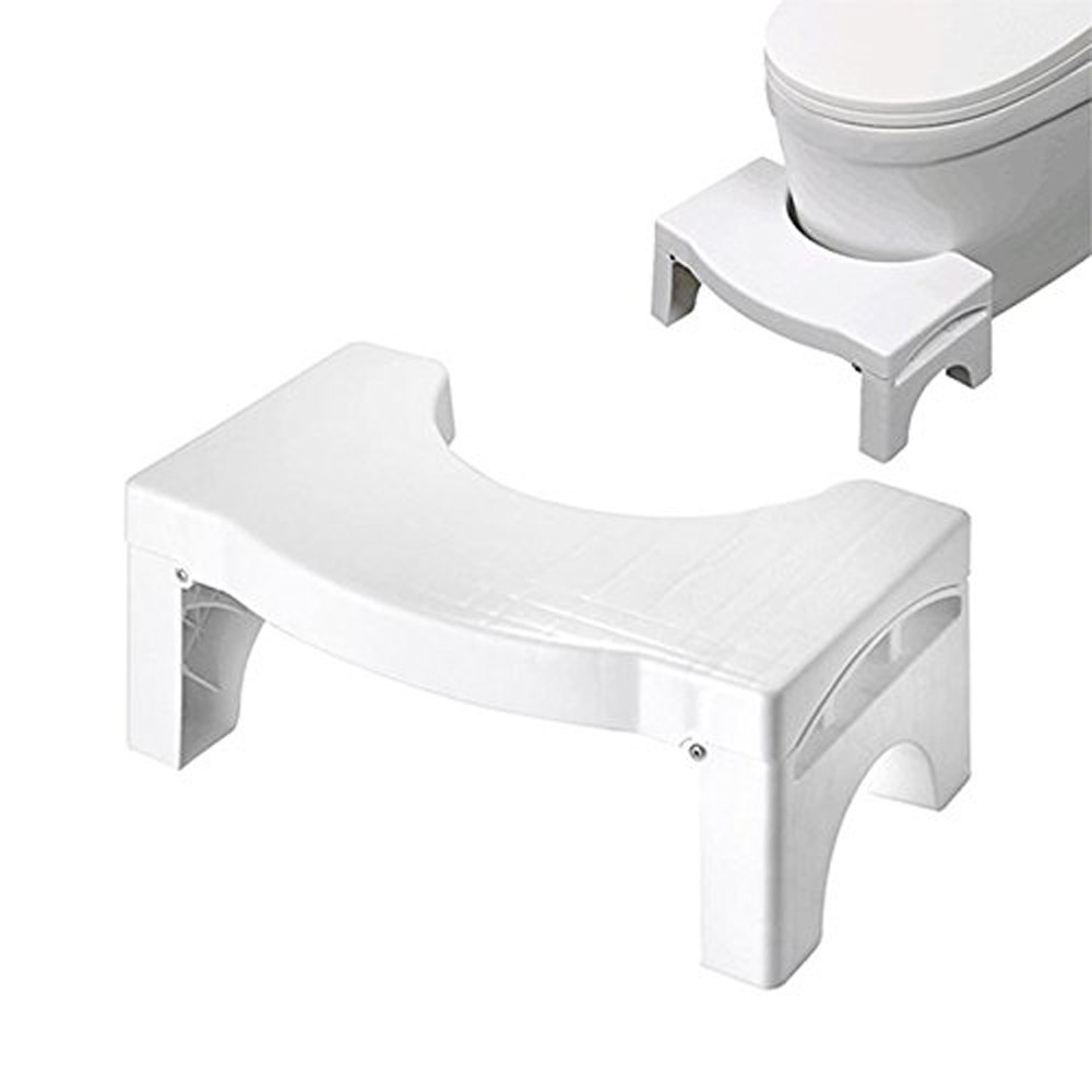 Click here to buy Voberry Bathroom Folding Portable Stool Toilet Stool Step Footstool Piles Relief Aid.