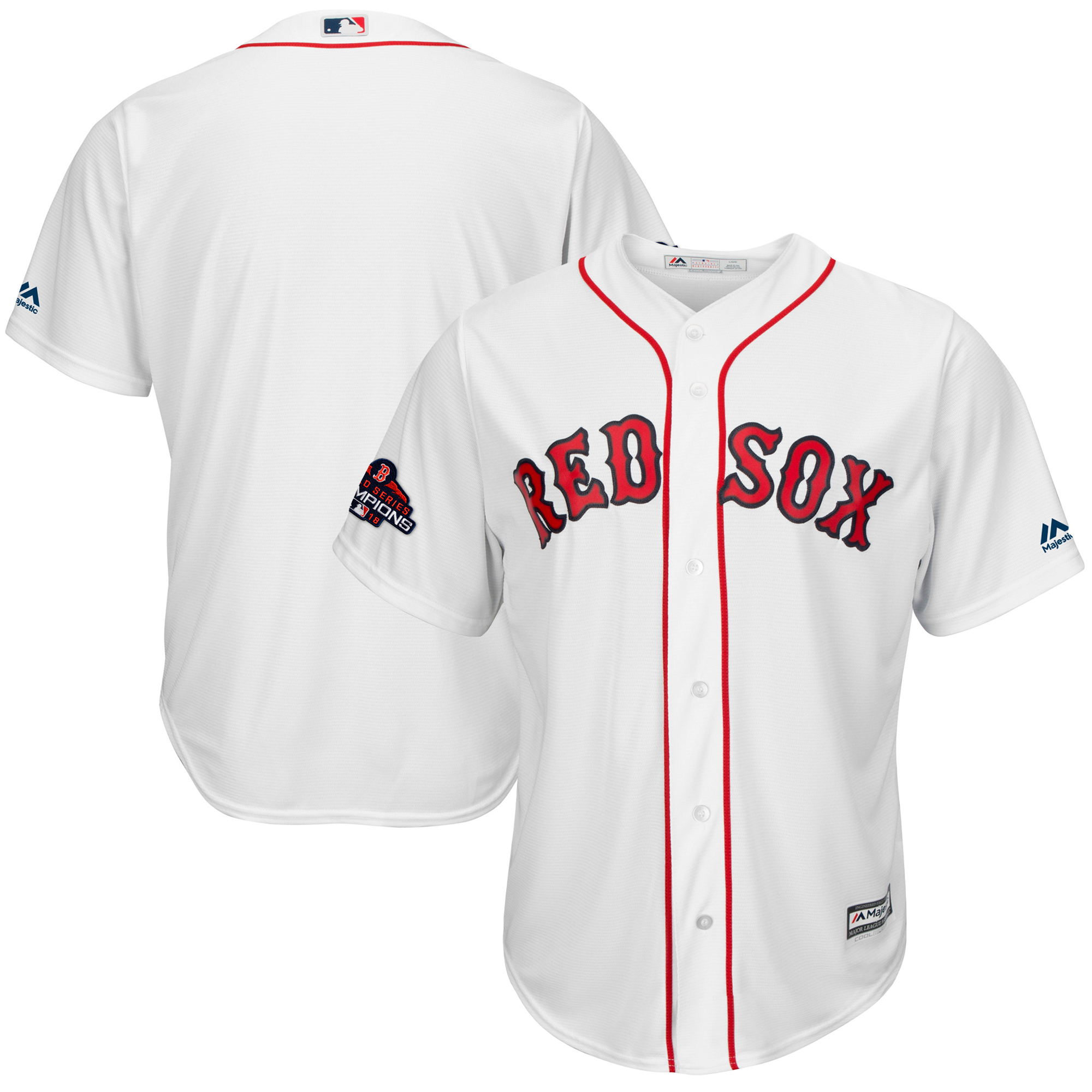 Boston Red Sox Majestic 2018 World Series Champions Cool Base Big & Tall Team Jersey - White