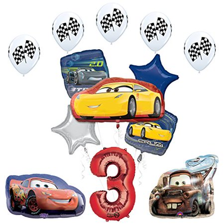 The Ultimate Disney Pixar Cars 3 3rd Birthday Party Supplies And