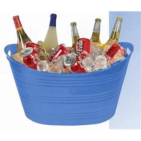 PTUB-PB BLU Party Tub - Blue - Pack of 6 - Plastic Party Tubs