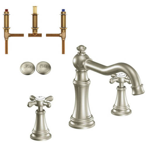 """Moen Krtwe-d-ts22101orb Weymouth 8-1/8"""" Roman Tub Faucet, Available in Various Colors"""