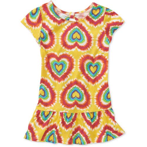 Healthtex Baby Girls' Keyhole Tie Dye Heart Dress