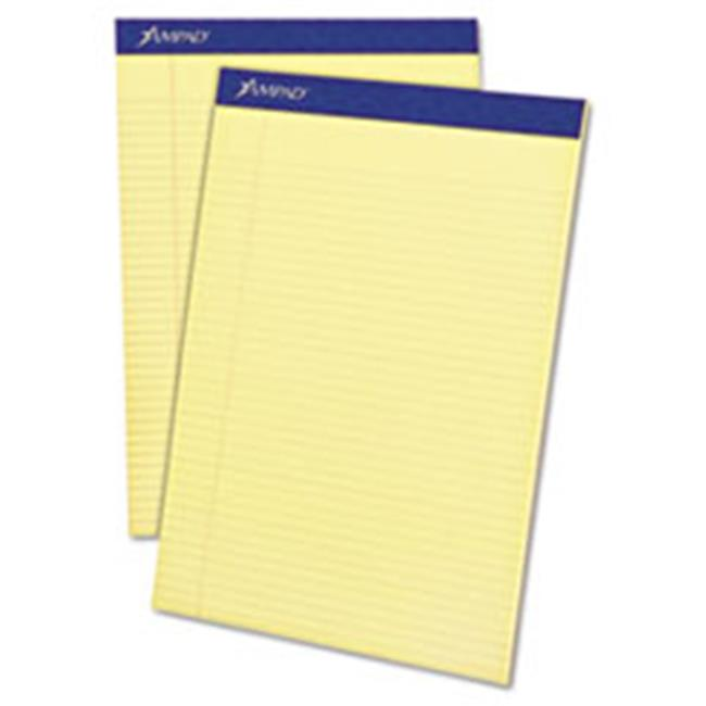 Tops Products 20222 Perforated Writing 8.5 x 11.75 in. Pad, Canary - 50 Sheets - image 1 of 1