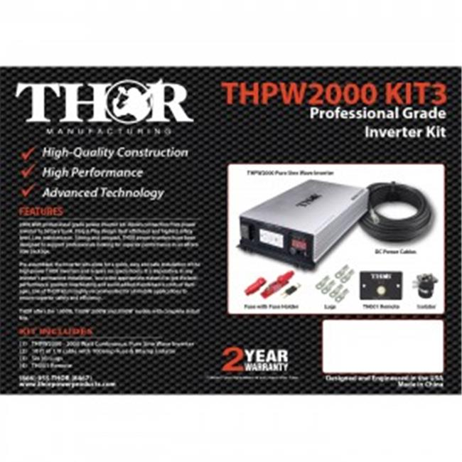 THOR THPW1000 KIT2 10 ft. of 1-0 Cable Remote with 100 am...