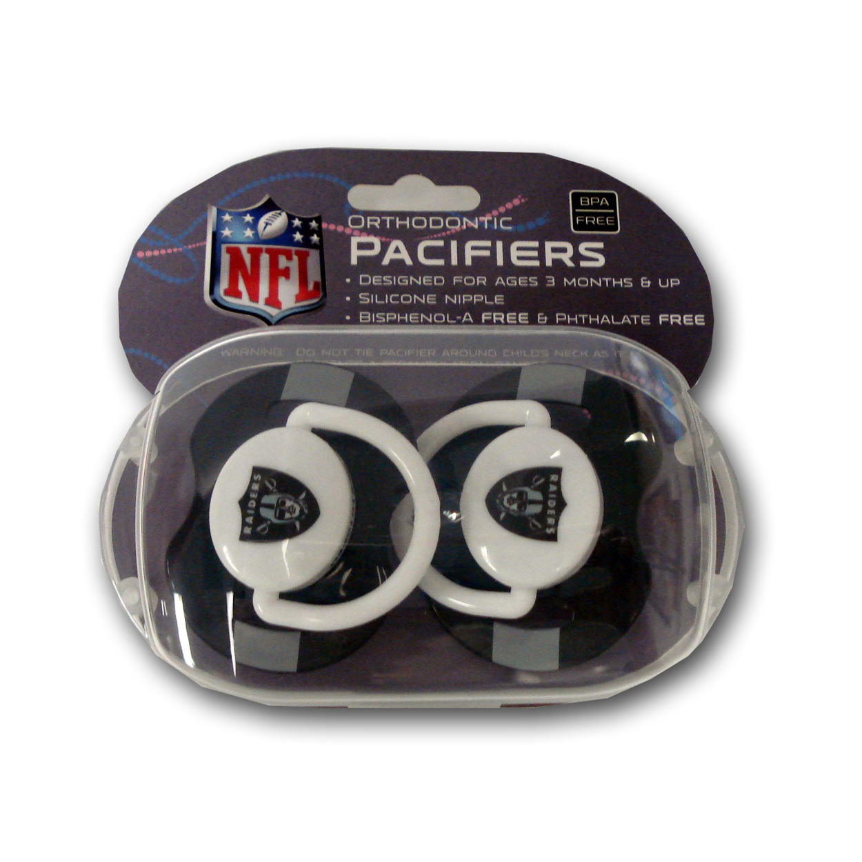 Baby Fanatic NFL Oakland Raiders 2-Pack Pacifiers
