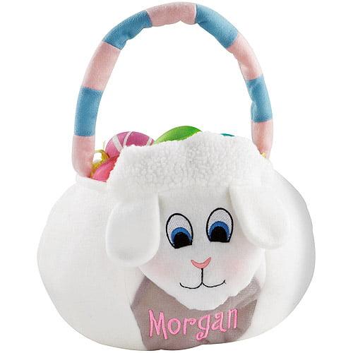 Personalized Plush Easter Basket, Lamb