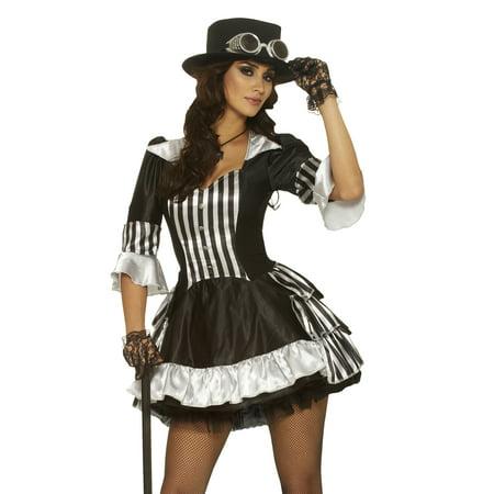 Steam Dream Steam Punk Vampire Victorian Fancy Dress Women Halloween (Women's Victorian Vampire Goth Dress Halloween Costume)