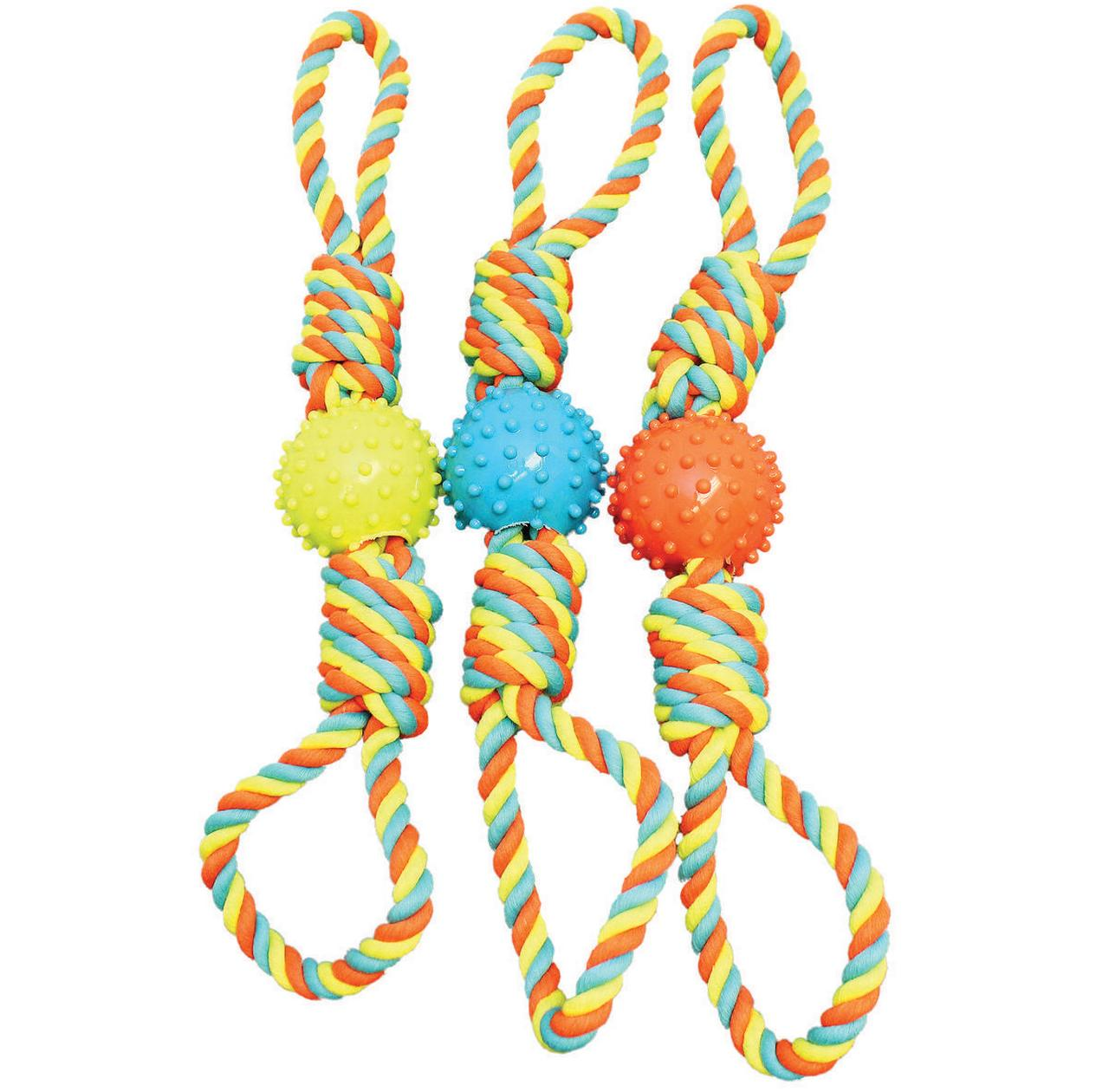 Boss Pet WB15533 Pet Toys, Rope Bone Ball