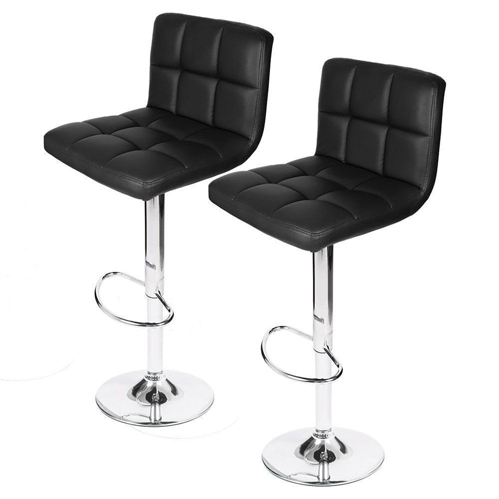 homall swivel black bonded leather barstool adjustable hydraulic bar stoolset of   walmartcom. homall swivel black bonded leather barstool adjustable hydraulic