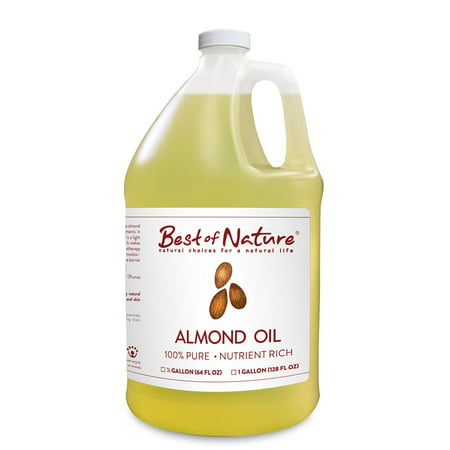 Best of Nature 100% Pure Almond Massage & Carrier Oil - Half Gallon (64