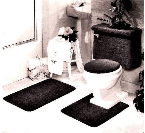 5 Piece Bath Rug Contour Lid Tank, 5 Piece Bathroom Rug Set